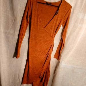 Forever 21 burnt orange & black. Slit small